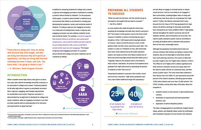 Comella Design Group | Alliance for Excellent Education Climate Change Paper