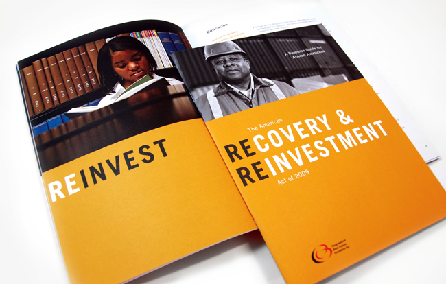 Comella Design Group | Congressional Black Caucus Foundation Recovery & Reinvestment Brochure