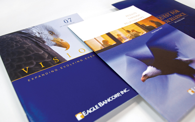 Comella Design Group | Eagle Bancorp, Inc. Annual Reports