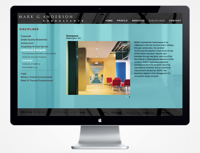 Comella Design Group | Mark G. Anderson Consultants Website